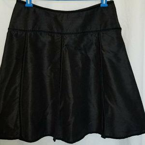 WEMA Size M Black Skirt 100% Silk A Line USA Made